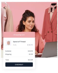 Woman with the personalized shopping experience